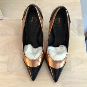 Rose Gold and Black Kelsi Dagger Pumps
